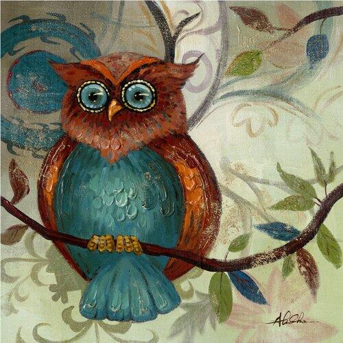 Revealed Artwork Owl II Original Painting on Canvas