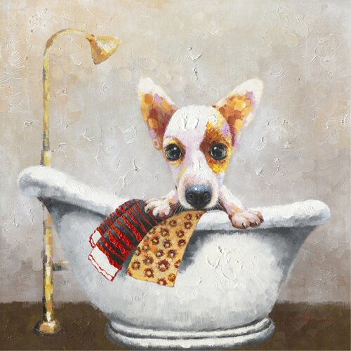 Revealed Artwork Bath Time Original Painting on Canvas