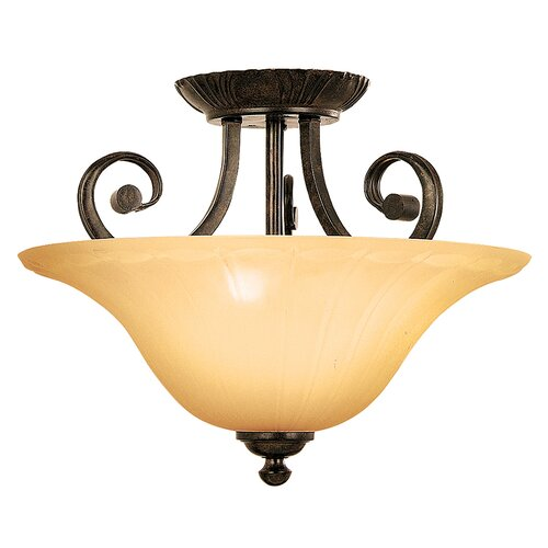 Yosemite Home Decor Florence 3 Light Semi Flush Mount