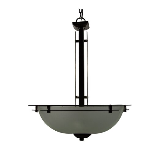 Half Dome 3 Light Foyer Inverted Pendant