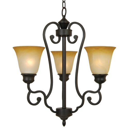 Royal Arches 3 Light Mini Chandelier