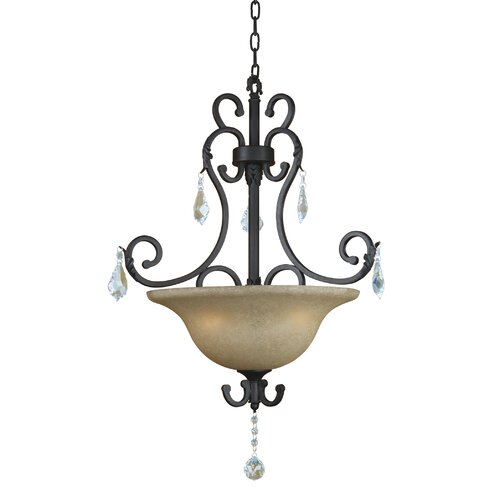 Yosemite Home Decor Jessica 3 Light Foyer Inverted Pendant
