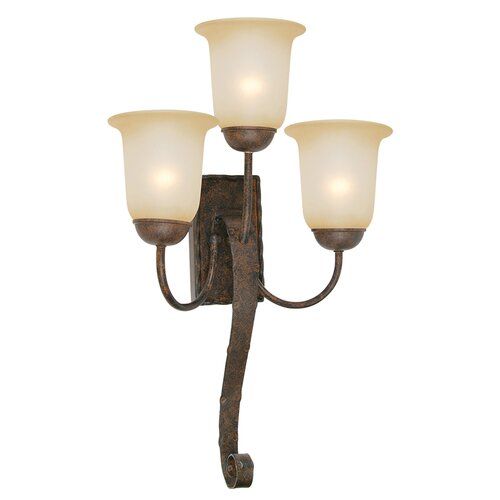 Yosemite Home Decor McKensi 3 Light Wall Sconce