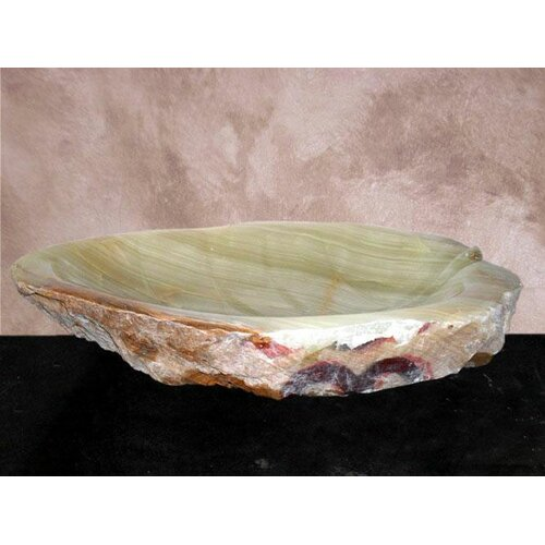 Yosemite Home Decor Hand Carved Irregular Shaped Vessel Bathroom Sink