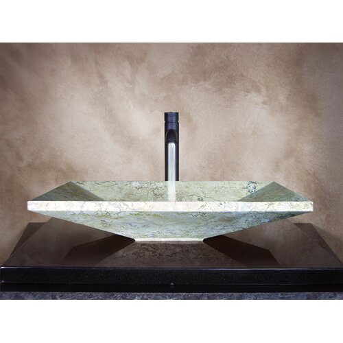 Yosemite Home Decor Sonya Hand Carved Vessel Bathroom Sink