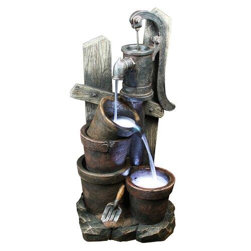 Yosemite Home Decor Two Bucket Water Well Fountain