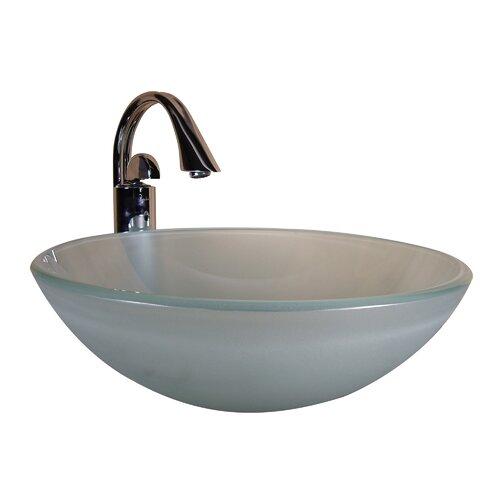 Yosemite Home Decor Round Glass Bathroom Sink