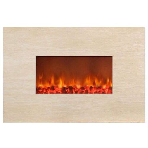 Stone Wall Mounted Electric Fireplace