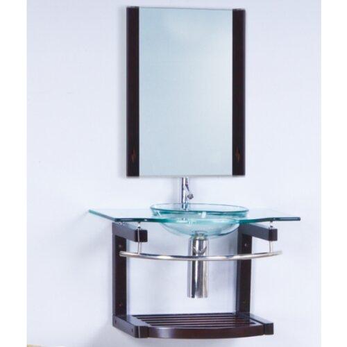 "Yosemite Home Decor Transitional 32"" Single Bathroom Vanity Set with Mirror"