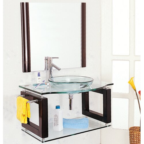 "Yosemite Home Decor Transitional Single 39.5"" Bathroom Vanity Set"