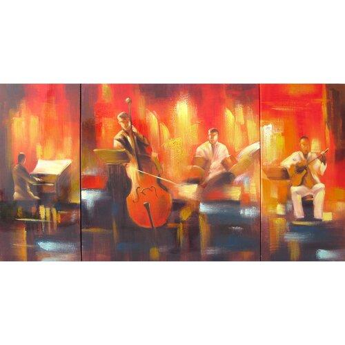 Revealed Art Musicality Original Painting on Canvas (Set of 3)