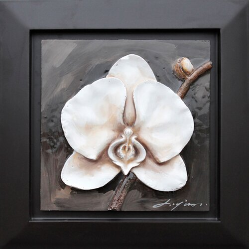 Yosemite Home Decor Revealed Art White Orchid Framed Original Painting