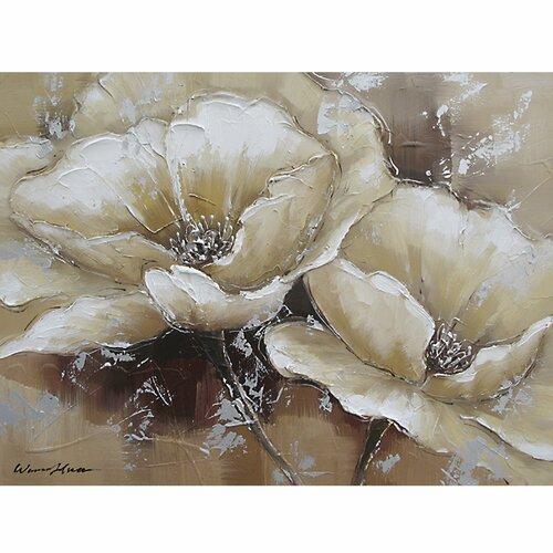Revealed Art Full Bloom I Original Painting on Canvas