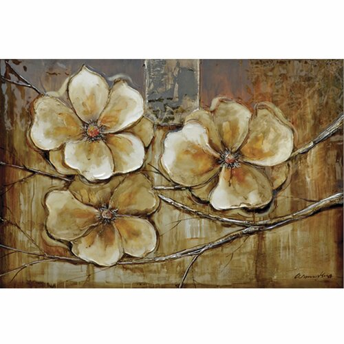 Yosemite Home Decor Revealed Art Bloom of a Plant I Original Painting on Canvas