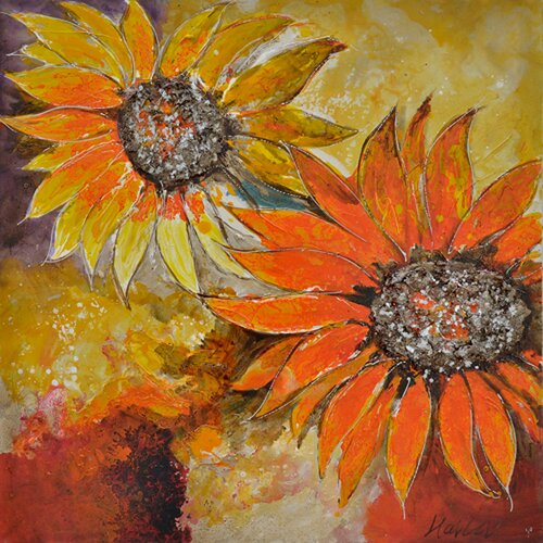 Yosemite Home Decor Revealed Art Sunburst Flower I Original Painting on Canvas