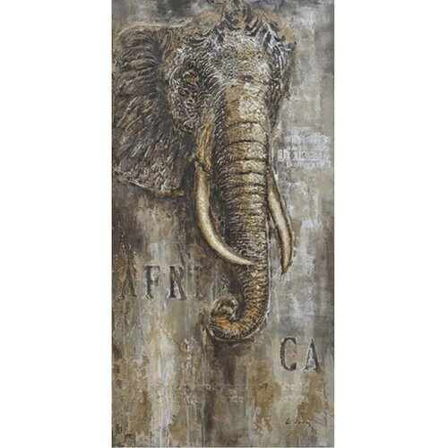 Revealed Art African Mammoth I Original Painting on Canvas