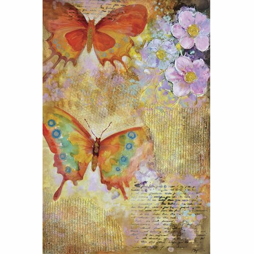 Yosemite Home Decor Revealed Art Butterfly Garden I Original Painting on Canvas