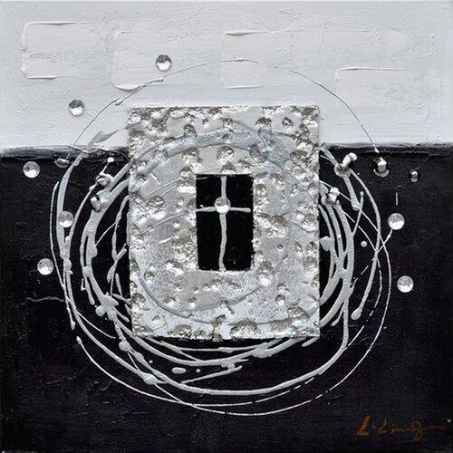 Revealed Art Back to Square I Original Painting on Canvas