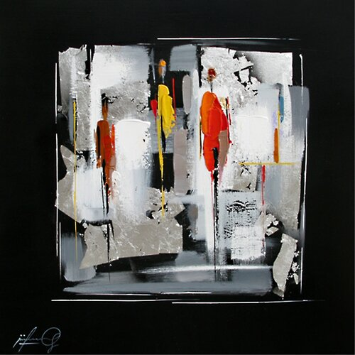 Contemporary & Abstract Art Indefinite II Original Painting on Canvas