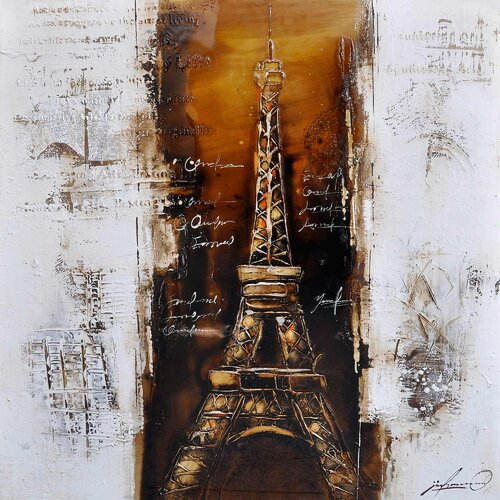 Yosemite Home Decor Revealed Art Paris a la Mode I Original Painting on Canvas
