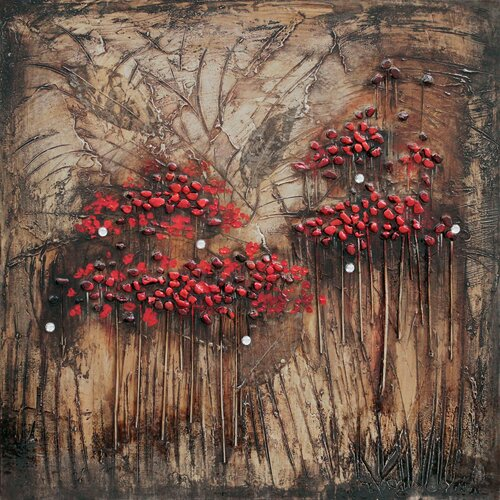 Revealed Art Blooms and Berries I Original Painting on Canvas