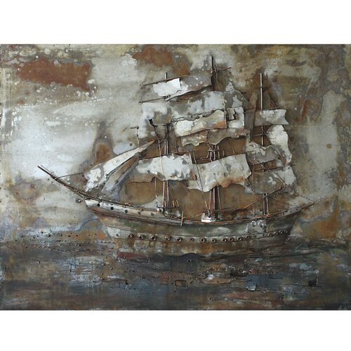 Yosemite Home Decor Castaway Ship I Original Painting