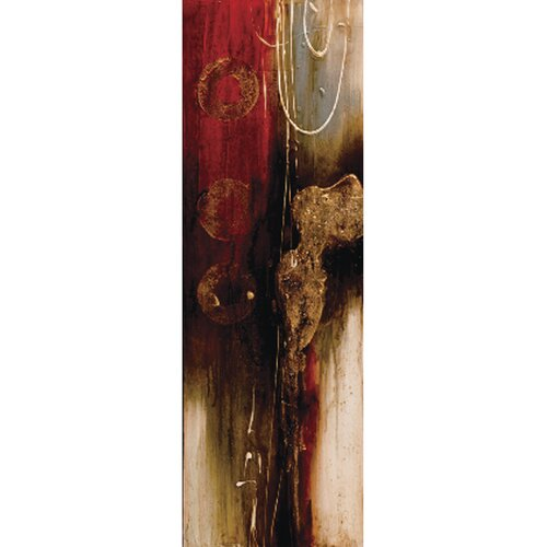 Unveiled Art Red Wood Original Painting on Canvas