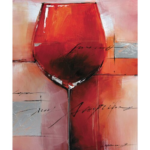 Yosemite Home Decor Red Merlot Canvas Art