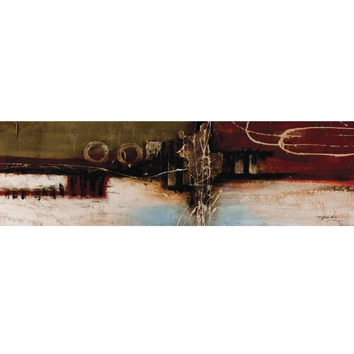 Unveiled Art Upside Down Sunset Original Painting on Canvas