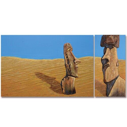 New Revealed Art Stranded Original Painting on Canvas (Set of 2)