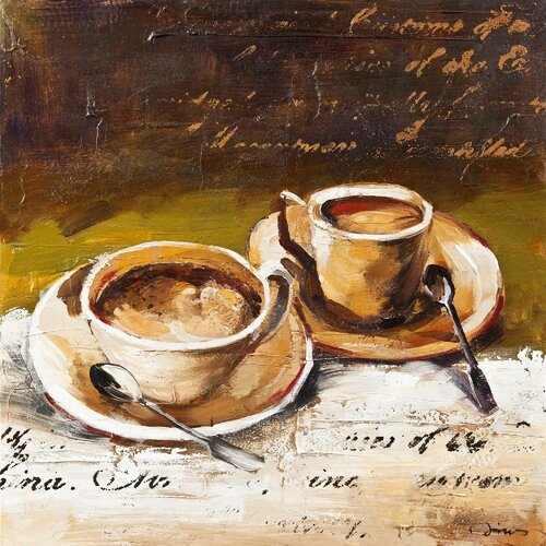 Revealed Art Coffee Cafe II Original Painting on Canvas