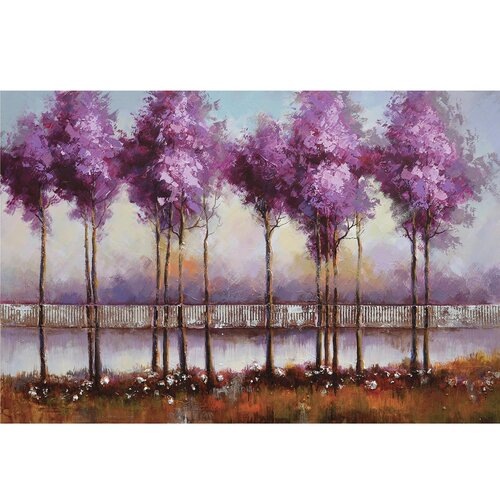 Revealed Art Lilac Reflections I Original Painting on Canvas