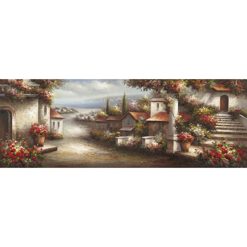 Revealed Artwork European Village 1 Original Painting on Canvas