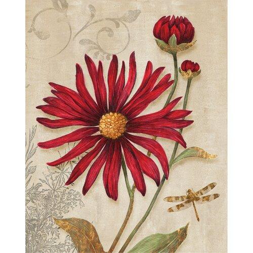 Yosemite Home Decor Revealed Artwork Crimson Blooms Graphic Art on Canvas
