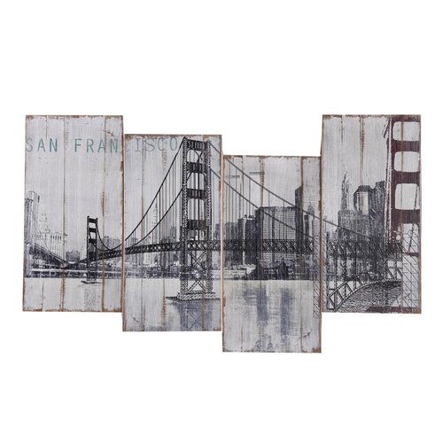 Yosemite Home Decor Revealed Art Golden Gate Bridge Original Painting on Canvas