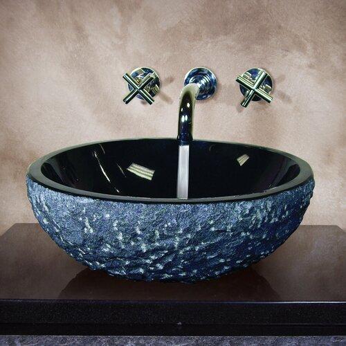 Piran Hand Carved Vessel Bathroom Sink