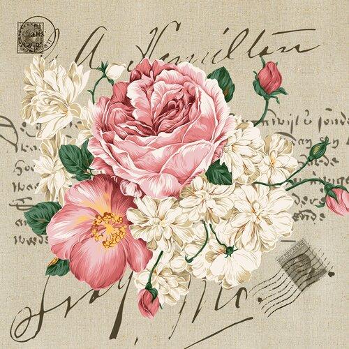 Yosemite Home Decor Revealed Artwork Floral Bouquet Graphic Art on Canvas