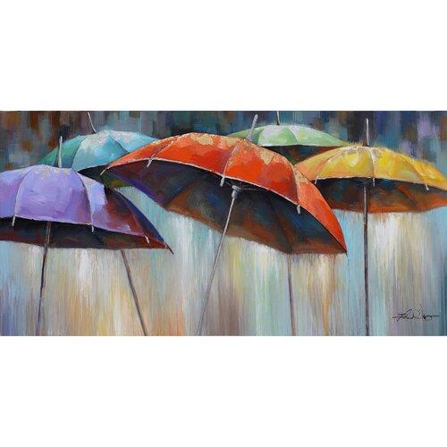 Revealed Artwork Umbrellas Original Painting on Canvas