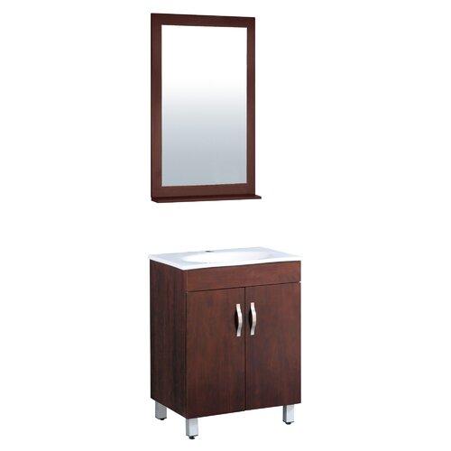 "Yosemite Home Decor Transitional Single 23.5"" Bathroom Vanity Set"