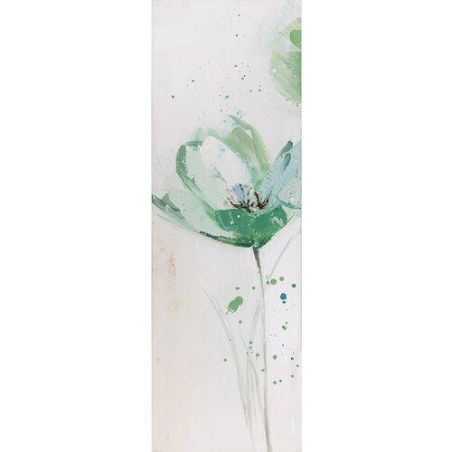 Revealed Artwork Lime Flower I Original Painting on Canvas
