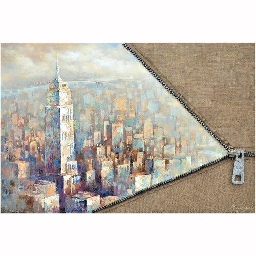 Revealed Artwork Unzip The City II Original Painting on Canvas