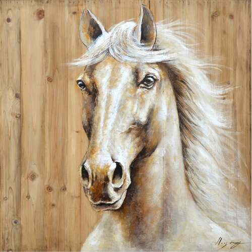 Revealed Artwork Equine Profile I Original Painting on Canvas