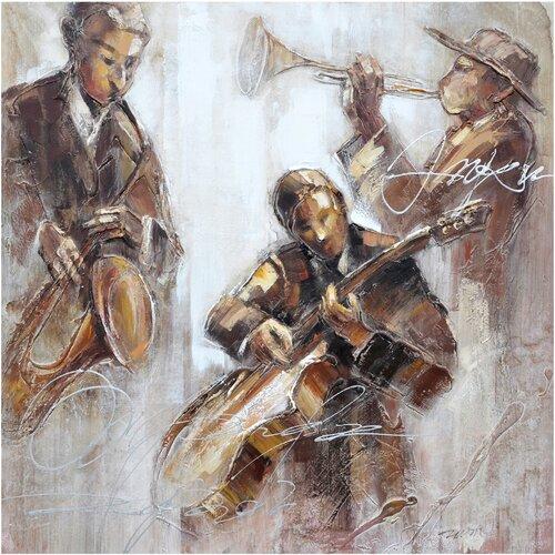 Revealed Artwork Jazz Movement I Original Painting on Canvas