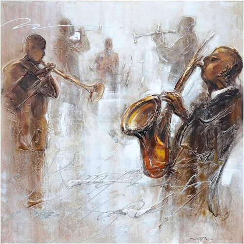 Revealed Artwork Jazz Movement II Original Painting on Canvas