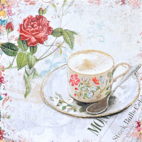 Revealed Artwork Tea Time Painting Print on Canvas