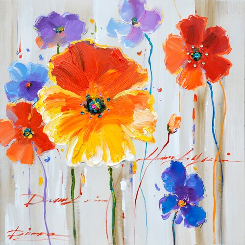 Revealed Artwork Primary Floral II Original Painting on Canvas