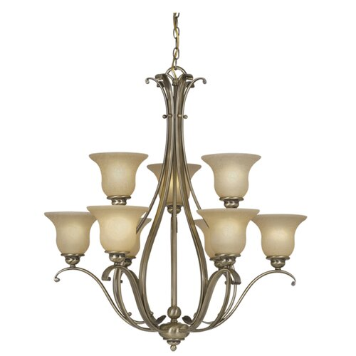 Vaxcel Monrovia 9 Light Chandelier