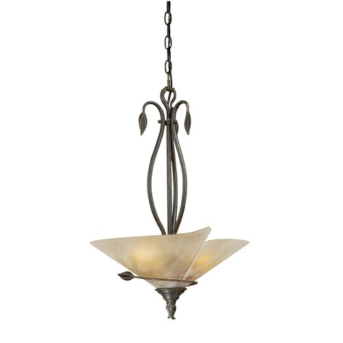 Capri 3 Light Inverted Pendant