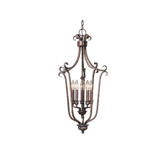 Mont Blanc 5 Light Foyer Pendant