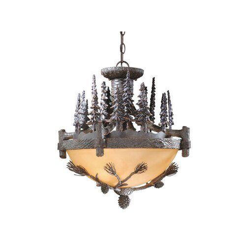 Vaxcel Yellowstone 3 Light Convertible Inverted Pendant